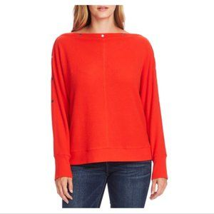NWT Vince Camuto Boat-Neck Hardware Top - Fiesta M